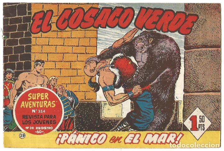 EL COSACO VERDE Nº 25 TEBEO ORIGINAL EDITORIAL BRUGUERA ED 1960 (Tebeos y Comics - Bruguera - Cosaco Verde)