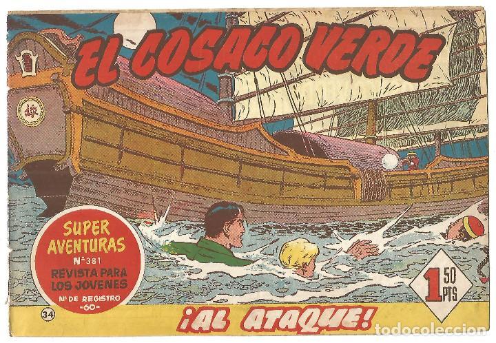 EL COSACO VERDE Nº 34 TEBEO ORIGINAL EDITORIAL BRUGUERA ED 1960 (Tebeos y Comics - Bruguera - Cosaco Verde)
