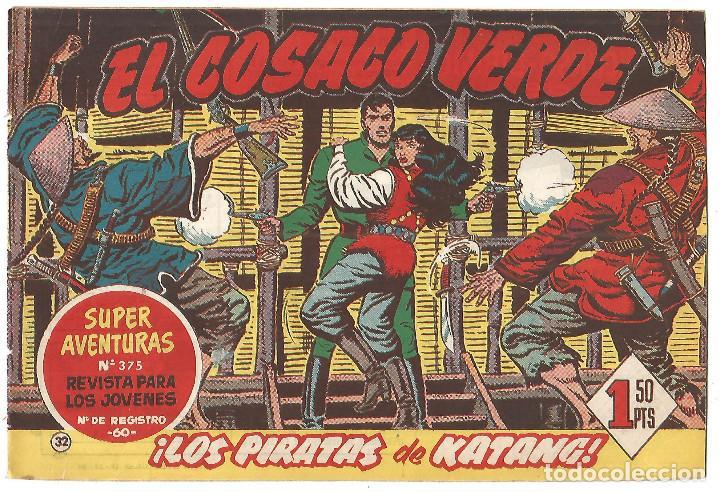 EL COSACO VERDE Nº 32 TEBEO ORIGINAL EDITORIAL BRUGUERA ED 1960 (Tebeos y Comics - Bruguera - Cosaco Verde)