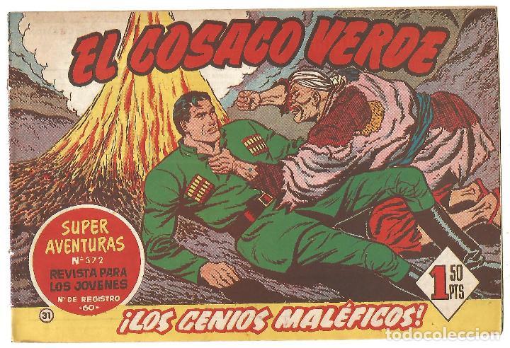 EL COSACO VERDE Nº 31 TEBEO ORIGINAL EDITORIAL BRUGUERA ED 1960 (Tebeos y Comics - Bruguera - Cosaco Verde)