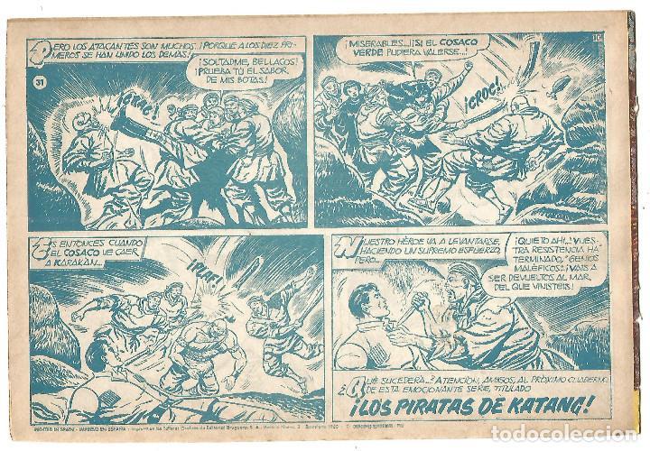 Tebeos: EL COSACO VERDE Nº 31 TEBEO ORIGINAL EDITORIAL BRUGUERA Ed 1960 - Foto 2 - 240448550