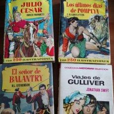 Tebeos: LOTE CUATRO PRIMERAS EDICIONES COLECIÓN HISTORIAS.ED.BRUGUERA. Lote 240792030