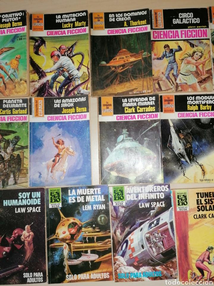 Tebeos: Lote de 68 novelas LA CONQUISTA DEL ESPACIO, BRUGUERA FUTURO y HÉROES DEL ESPACIO, ECSA. - Foto 8 - 241031215