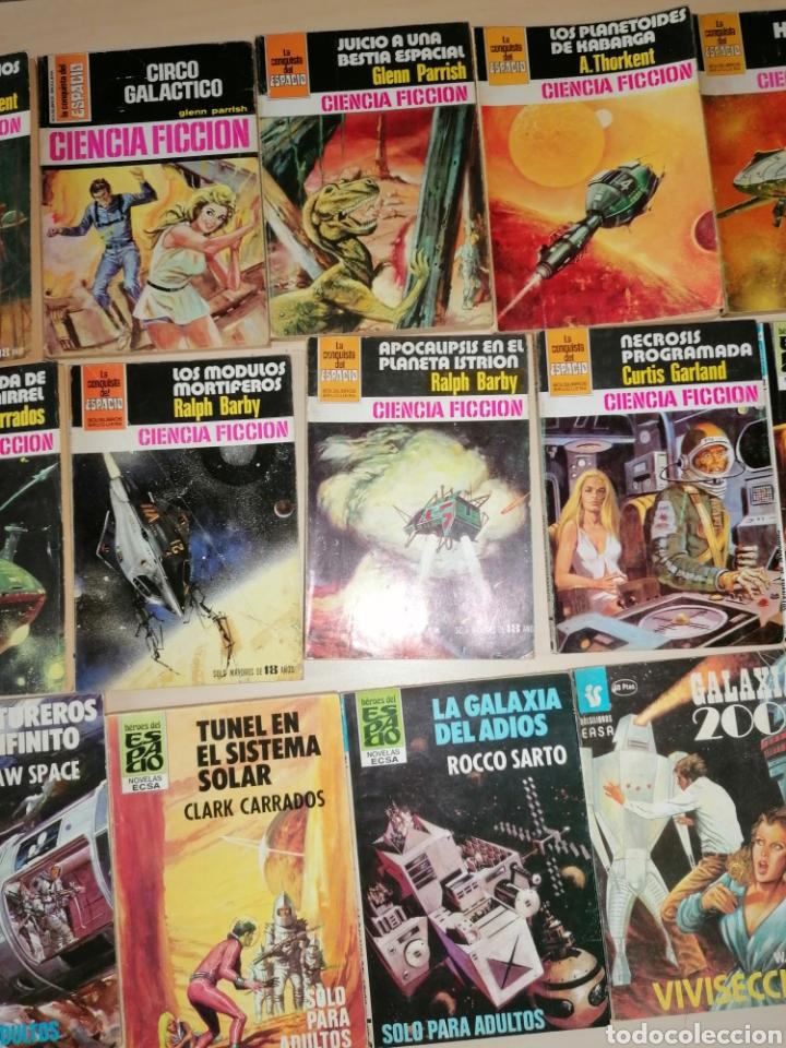 Tebeos: Lote de 68 novelas LA CONQUISTA DEL ESPACIO, BRUGUERA FUTURO y HÉROES DEL ESPACIO, ECSA. - Foto 9 - 241031215