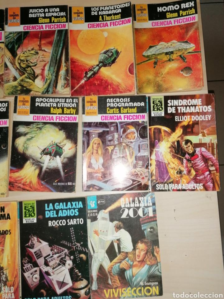 Tebeos: Lote de 68 novelas LA CONQUISTA DEL ESPACIO, BRUGUERA FUTURO y HÉROES DEL ESPACIO, ECSA. - Foto 10 - 241031215