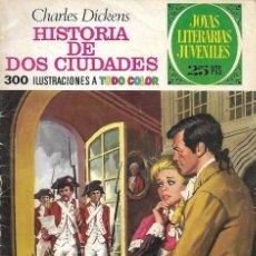 """Tebeos: JOYAS LITERARIAS Nº 3 """"HISTORIA DE DOS CIUDADES"""" / CHARLES DICKENS. 1975. ED. BRUGUERA. Lote 241095790"""