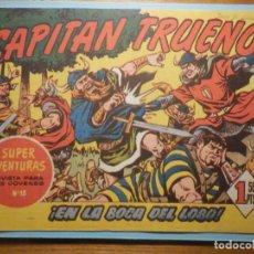 Tebeos: COMIC - EL CAPITAN TRUENO NÚMERO, Nº 64 - ¡ EN LA BOCA DEL LOBO !, BRUGUERA 1957, ORIGINAL. Lote 241328005