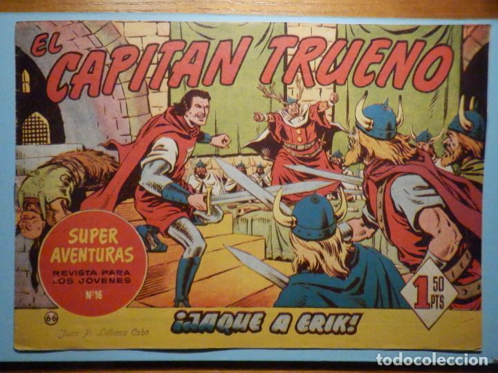 COMIC - EL CAPITAN TRUENO NÚMERO, Nº 66 - ¡ JAQUE A ERIK !, BRUGUERA 1957, ORIGINAL (Tebeos y Comics - Bruguera - Capitán Trueno)