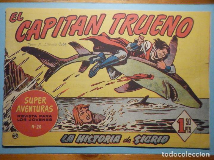COMIC - EL CAPITAN TRUENO NÚMERO, Nº 69 - ¡ LA HISTORIA DE SIGRID !, BRUGUERA 1958, ORIGINAL (Tebeos y Comics - Bruguera - Capitán Trueno)