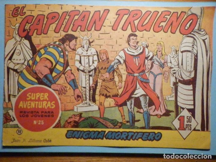 COMIC - EL CAPITAN TRUENO NÚMERO, Nº 72 - ¡ ENIGMA MORTÍFERO !, BRUGUERA 1958, ORIGINAL (Tebeos y Comics - Bruguera - Capitán Trueno)