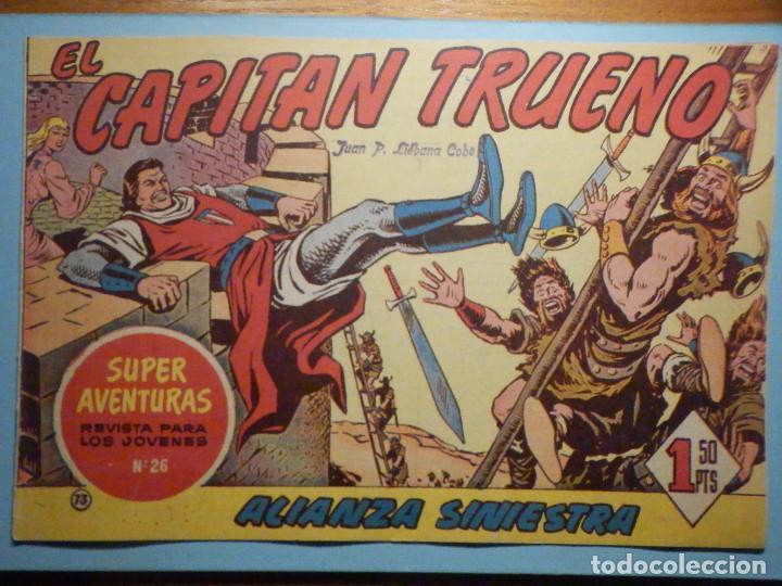 COMIC - EL CAPITAN TRUENO NÚMERO, Nº 73 - ¡ ALIANZA SINIESTRA !, BRUGUERA 1958, ORIGINAL (Tebeos y Comics - Bruguera - Capitán Trueno)