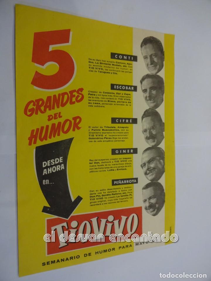 5 GRANDES DEL HUMOR. FOLLETO PUBLICITARIOS LANZAMIENTO REVISTA.CONTI-ESCOBAR-CIFRE-PEÑARROYA (Tebeos y Comics - Bruguera - Otros)