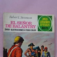 Tebeos: 1 EDICION CONTRAPORTADA INTERIOR LABERITO JOYAS LITERARIAS JUVENILES NUMERO 20 EL SEÑOR DE BALANTRY. Lote 243056585