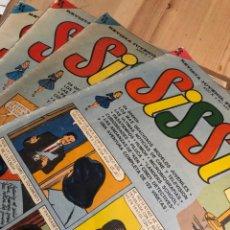 Livros de Banda Desenhada: LOTE 4 NÚMEROS REVISTA SISSI BRUGUERA IBAÑEZ JAN SEGURA 406 409 432 434. Lote 243068365
