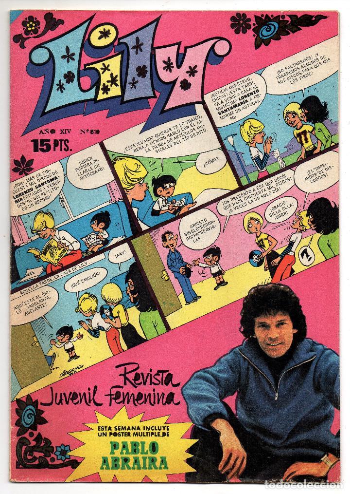 LILY Nº 810 (BRUGUERA 1977) CON POSTER DE PABLO ABRAIRA. (Tebeos y Comics - Bruguera - Lily)