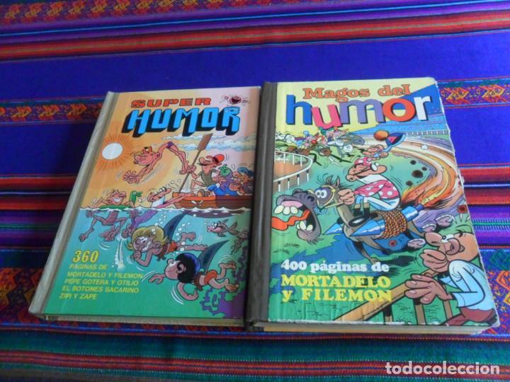 MAGOS DEL HUMOR XVIII 18 MORTADELO 1ª EDICIÓN 1974 Y SUPER HUMOR I 1 2ª EDICIÓN 1977. BRUGUERA. (Tebeos y Comics - Bruguera - Super Humor)