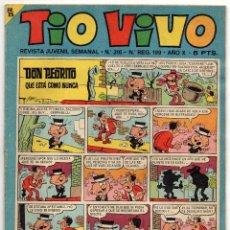 Tebeos: TIO VIVO Nº 316 (BRUGUERA 1967). Lote 243369125