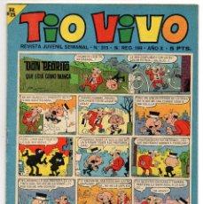 Tebeos: TIO VIVO Nº 315 (BRUGUERA 1967). Lote 243369365