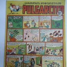 Tebeos: CUADERNOS HUMORISTICOS. PULGARCITO. Nº 141. HELIODORO EN EL RETRATO DE DURIAN PAEZ MIDE 24 X 18 CM.. Lote 243414360