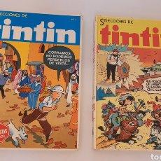 Tebeos: COMICS SELECCIONES DE TINTIN N°1 Y 2 EDITORIAL BRUGUERA. Lote 243564825