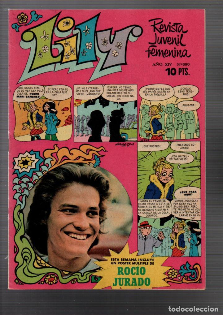LILY Nº 690. POSTER DE ROCIO JURADO. REVISTA JUVENIL FEMENINA. FEBRERO 1975 (Tebeos y Comics - Bruguera - Lily)