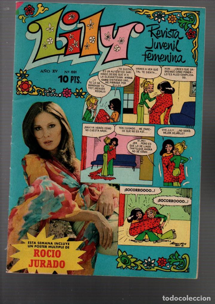LILY Nº 691. POSTER DE ROCIO JURADO. REVISTA JUVENIL FEMENINA. MARZO 1975 (Tebeos y Comics - Bruguera - Lily)