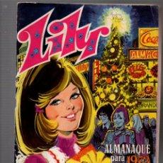 Tebeos: LILY, REVISTA JUVENIL FEMENINA. ALMANAQUE PARA 1973. BRUGUERA, 6 NOVIEMBRE 1972. Lote 243607615