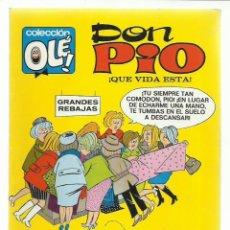 Tebeos: COLECCIÓN OLÉ 6: DON PIO, 1971, BRUGUERA, PRIMERA EDICIÓN, MUY BUEN ESTADO. Lote 243816185