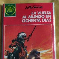 Tebeos: JOYAS LITERARIAS JUVENILES - LA VUELTA AL MUNDO EN 80 DIAS-BUEN ESTADO-BOLSA & BACKBOARD. Lote 243854030