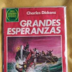 Tebeos: JOYAS LITERARIAS JUVENILES -GRANDES ESPERANZAS-BUEN ESTADO-BOLSA & BACKBOARD. Lote 243854210