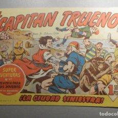 Tebeos: COMIC - EL CAPITAN TRUENO NÚMERO, Nº 115 - ¡LA CIUDAD SINIESTRA ! - BRUGUERA 16-12-1958, ORIGINAL. Lote 244253270