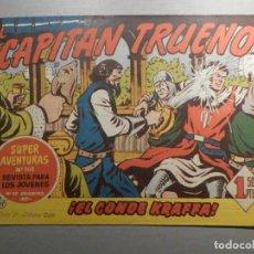 Tebeos: COMIC - EL CAPITAN TRUENO NÚMERO, Nº 117 - ¡EL CONDE KRAFFA ! - BRUGUERA 29-12-1958, ORIGINAL. Lote 244388545