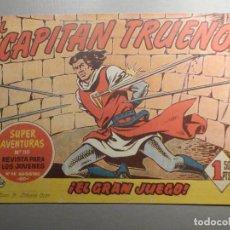 Tebeos: COMIC - EL CAPITAN TRUENO NÚMERO, Nº 120 - ¡EL GRAN JUEGO ! - BRUGUERA 19-1-1959, ORIGINAL. Lote 244401545