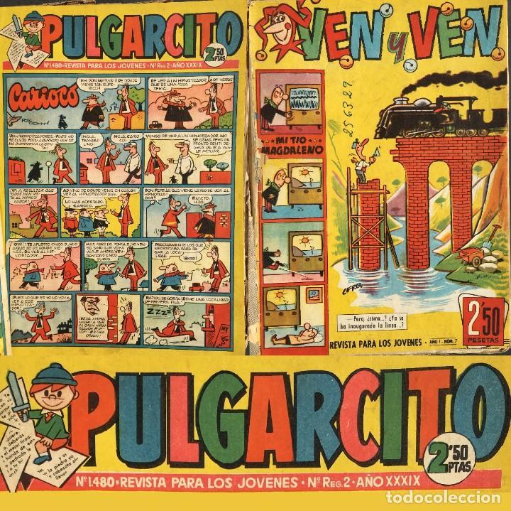 AÑOS 50 - VEN Y VEN - TIO VIVO - PULGARCITO - TOMO CON NUMEROSOS TEBEOS - EL JABATO (Tebeos y Comics - Bruguera - Pulgarcito)