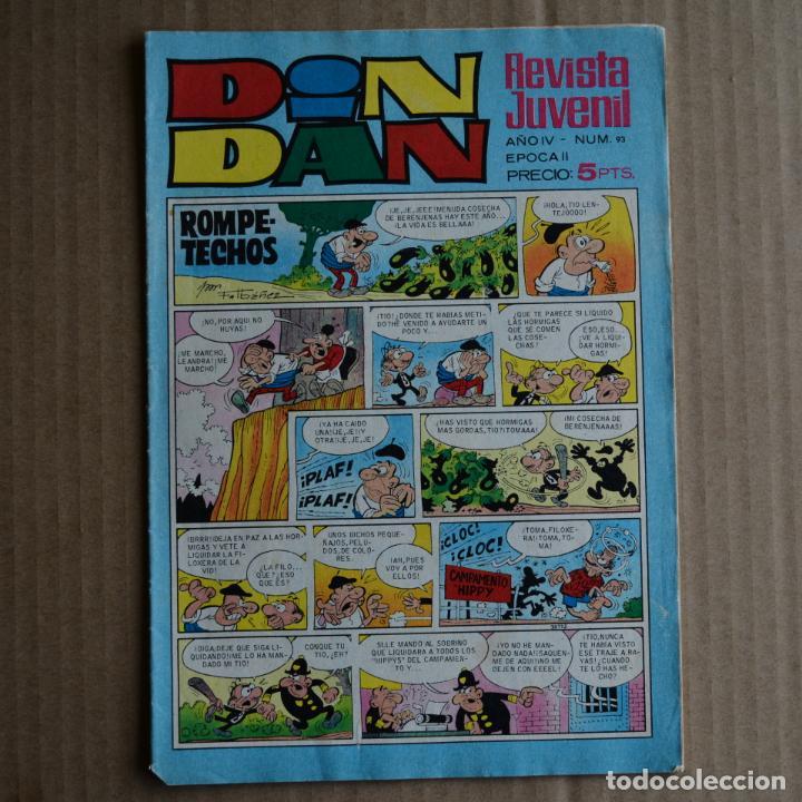 DIN DAN Nº 93. AÑO IV - EPOCA II. BRUGUERA 1969. LITERACOMIC. C2 (Tebeos y Comics - Bruguera - Din Dan)