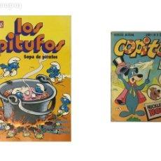 Tebeos: LOTE DE 2 TEBEOS – COLECCION OLE, LOS PITUFOS – REVISTA COPITO.. Lote 244485350
