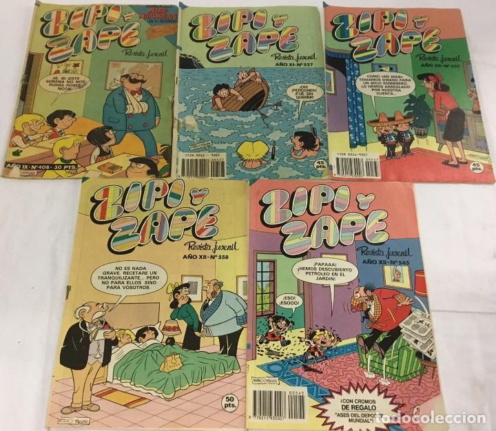 LOTE DE 5 REVISTAS DE ZIPI Y ZAPE. REVISTA JUVENIL – AÑOS 80. (Tebeos y Comics - Bruguera - DDT)