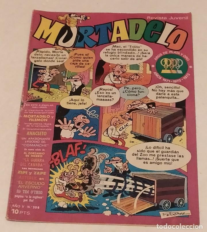 MORTADELO Nº 208 BRUGUERA. AÑO 1974 (Tebeos y Comics - Bruguera - Mortadelo)