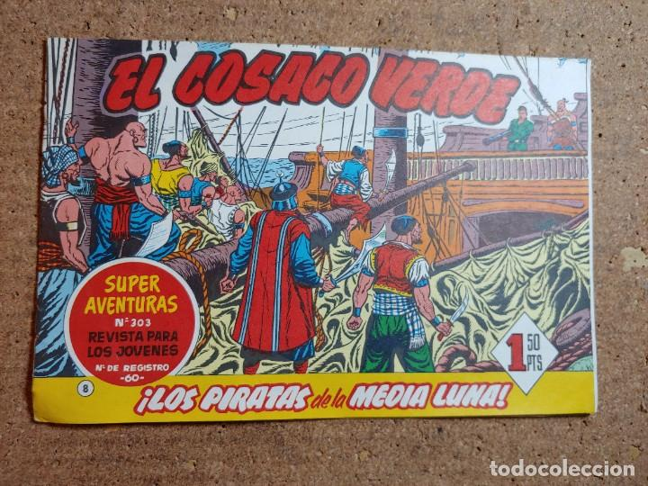 COMIC DE EL CORSARIO VERDE EN LOS PIRATAS DE LA MEDIA LUNA Nº 8 (Tebeos y Comics - Bruguera - Cosaco Verde)