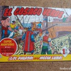 Tebeos: COMIC DE EL CORSARIO VERDE EN LOS PIRATAS DE LA MEDIA LUNA Nº 8. Lote 244626710