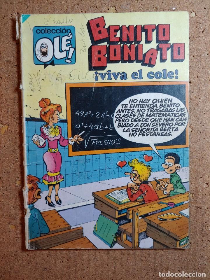 COMIC DE BENITO BONIATO EN VIVA EL COLE DEL AÑO 1984 Nº 9 (Tebeos y Comics - Bruguera - Ole)