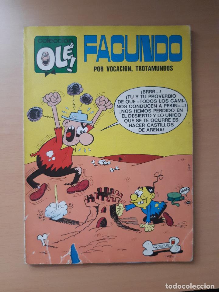 """OLÉ 37 FACUNDO """"POR VOCACIÓN, TROTAMUNDOS"""" 1ª EDICIÓN (1971) GOSSE (Tebeos y Comics - Bruguera - Ole)"""