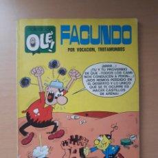 """Tebeos: OLÉ 37 FACUNDO """"POR VOCACIÓN, TROTAMUNDOS"""" 1ª EDICIÓN (1971) GOSSE. Lote 244694195"""