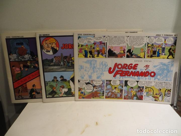 JORGE FERNANDO LOTE DE 3 CUADERNILLOS EL 1,2 Y 3 COMO NUEVOS,BARATOS (Tebeos y Comics - Bruguera - Cuadernillos Varios)