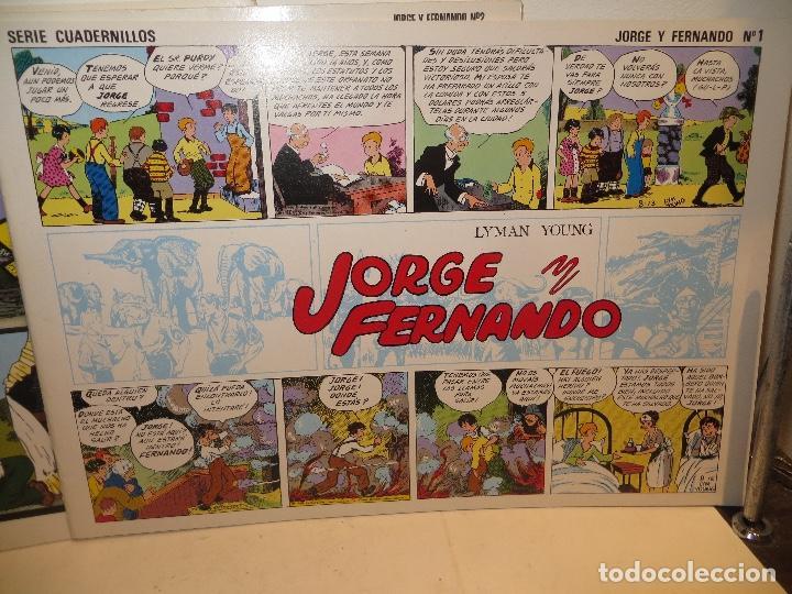 Tebeos: JORGE FERNANDO LOTE DE 3 CUADERNILLOS EL 1,2 Y 3 COMO NUEVOS,BARATOS - Foto 3 - 244854945