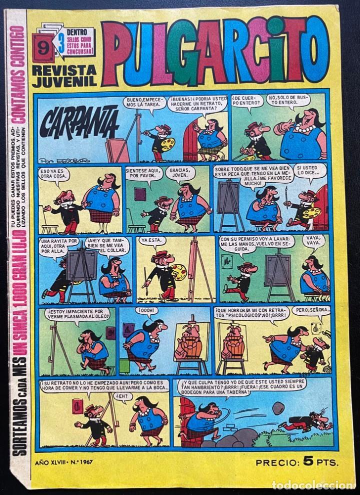REVISTA JUVENIL PULGARCITO Nº 1967 AÑO 1969 (Tebeos y Comics - Bruguera - Mortadelo)