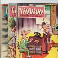 Tebeos: * TIO VIVO Nº 148, 152, 155 * CRISOL / BRUGUERA. (1958). 1ª EDICIÓN.. Lote 245011025