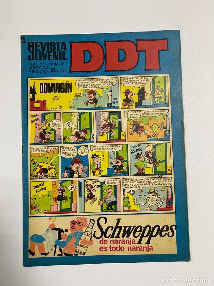 DDT. REVISTA JUVENIL. AÑO XVI. Nº 12. III EPOCA. EDITORIAL BRUGUERA (Tebeos y Comics - Bruguera - DDT)