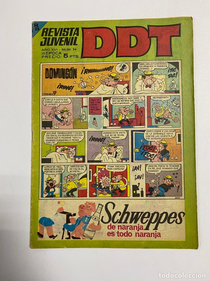 DDT. REVISTA JUVENIL. AÑO XVI. Nº 24. III EPOCA. EDITORIAL BRUGUERA (Tebeos y Comics - Bruguera - DDT)