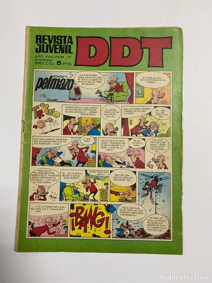 DDT. REVISTA JUVENIL. AÑO XVI. Nº 121. III EPOCA. EDITORIAL BRUGUERA (Tebeos y Comics - Bruguera - DDT)